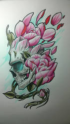 Skull and roses by LeandroIbalo