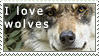 I Love Wolves- stamp by mimzybird