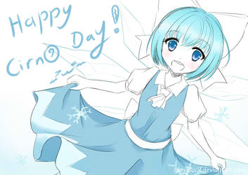 Happy Cirno Day 2018~ by Bluyidark