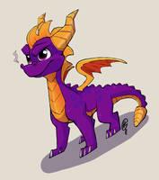 Spyro the Dragon by gatorette8