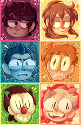 Painted Heads by nNkComicRelief