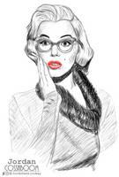 Marilyn Monroe Wearing Glasses (Tracing) by JordoDeskjockey