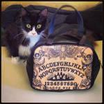 Umami and my Ouija Board handbag by ShayneOtheDead