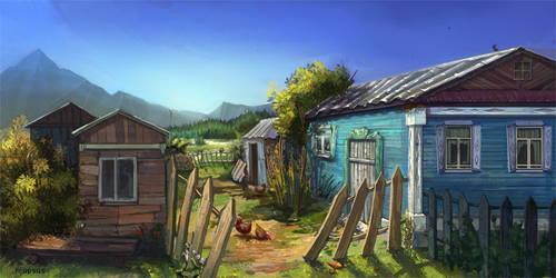 village yard by VeronikaD