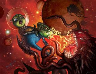 Space war by VeronikaD