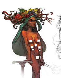 Goddess character by VeronikaD