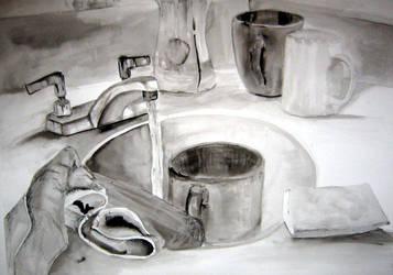 ink wash sink by drewisgenki