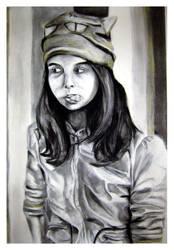 Self-portrait -the real way- by drewisgenki