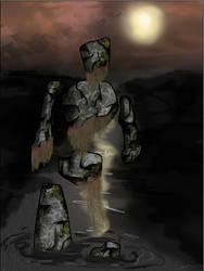 rock elemental concept by drewisgenki
