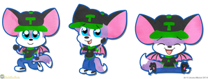 Three Lineless Tilki's by MeckelFoxStudio
