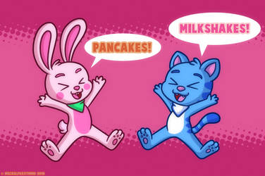 Pancakes and Milkshakes SHOUT by MeckelFoxStudio