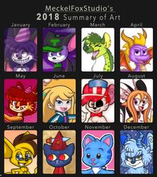 2018 Summary of Art by MeckelFoxStudio