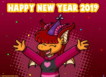 Happy New Year 2019 by MeckelFoxStudio