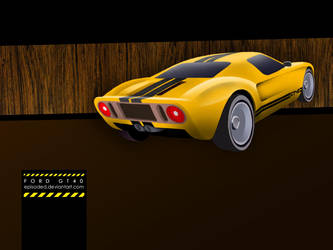 Ford GT40 illustration by Episoded