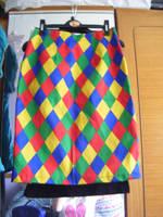 Harlequin Skirt by avoiding-you