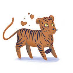 Tiger  by chockoladien