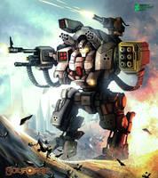Big robot firing by syam-arifin