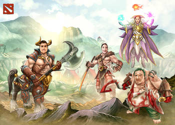 DOTA characters based on personal photo by syam-arifin