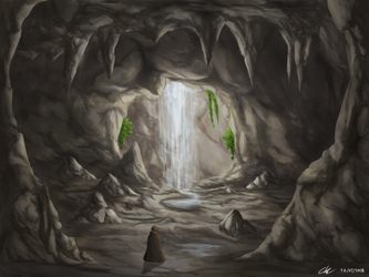 Hidden Cave by leazin10