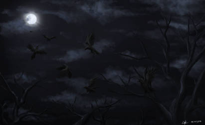 Night of Crows by leazin10