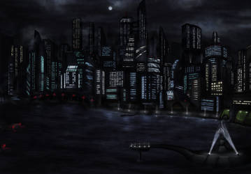 Night City Skyline by leazin10