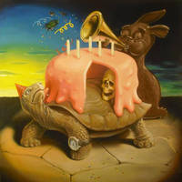 chocolate bunny announces the Trojan cake by sgibb