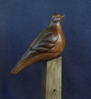 Dove wood sculpture 2 by Secerov