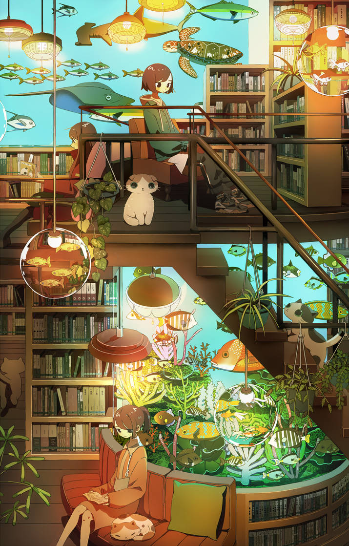 Library Aquarium by tao15102