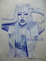 Lady Gaga, Ballpoint Pen, 2010. by TashaNull