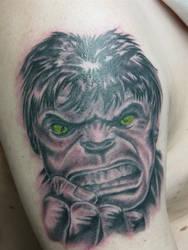 hulk tattoo by ganesaishaya