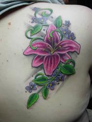 flowers tattoo 4 by ganesaishaya