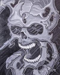 bio skull by ganesaishaya