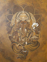 Ganesa painting by ganesaishaya