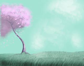 Sakura in the Wind by JesusArtwork