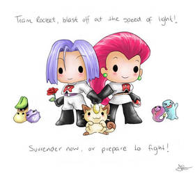 Chibi Team Rocket by capsicum