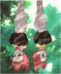 Ren and Ai Nanao by Guegorov