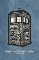 New Dr Who - Tardis Inspired Quote Poster by outnerdme