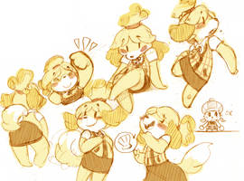 Isabelle Sketches by iRootie