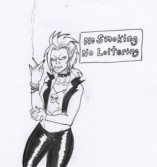 Punk Orc being a punk by Baby-Crow
