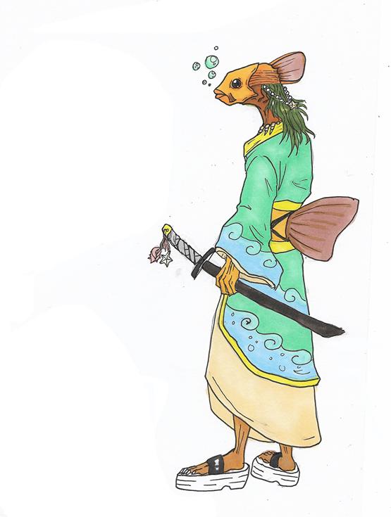Fish Samurai by Baby-Crow