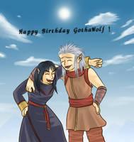 Happy Birthday GothaWolf by Shuka-the-Echigoya
