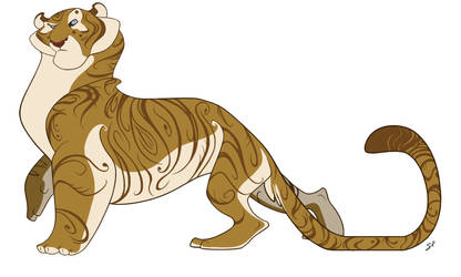 Character Design - Tiger by shayfifearts