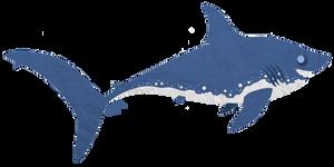 Tuesday's Shark - Salmon Shark by shayfifearts