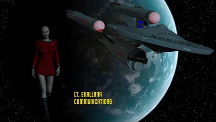 Lt Eiiallana - Communications Officer Redux by DrMcQuark