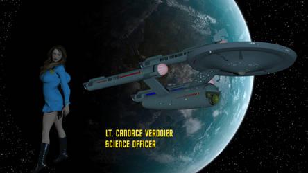 Lt. Candace Verdoier - Science Officer by DrMcQuark