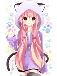 57407-Mirai-Nikki-Yuno-Gasai-animal-ears-cat-e by sakuratsubasa19