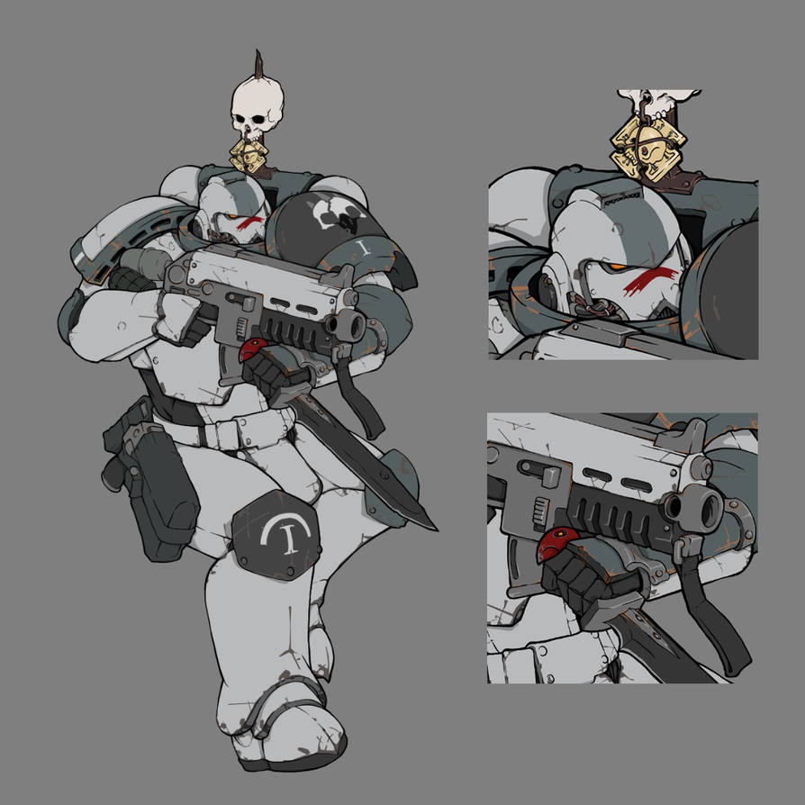 [W40K] Collection d'images : Space Marines du Chaos - Page 13 Tactical_marine_squad_leader___ashen_shrikes_by_mistymiasma_dbtqeln-pre