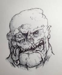 inktober 008 - Plague Champion by MistyMiasma