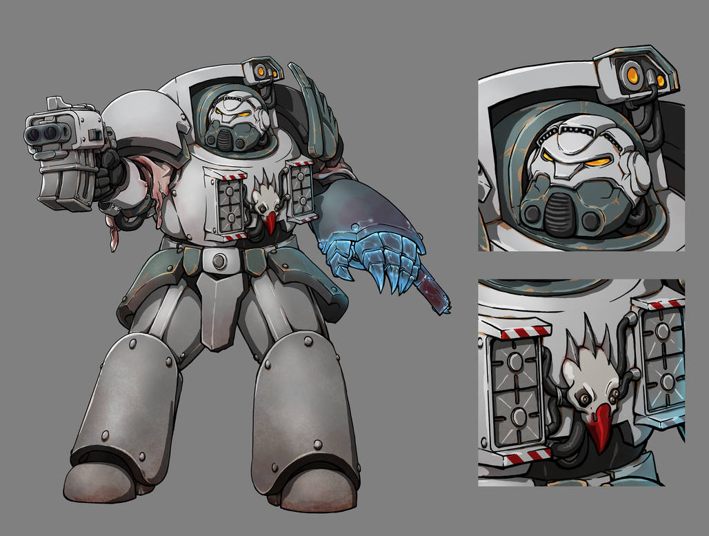[W40K] Collection d'images : Space Marines du Chaos - Page 13 Chapter_master_in_terminator_armor___ashen_shrikes_by_mistymiasma_dcvlm4g-pre