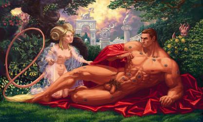 Lord Kaldor Draigo suffering sexual harrasment by LynxC